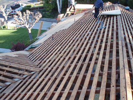 Cedar roof conversions dr roofing for What is roof sheathing